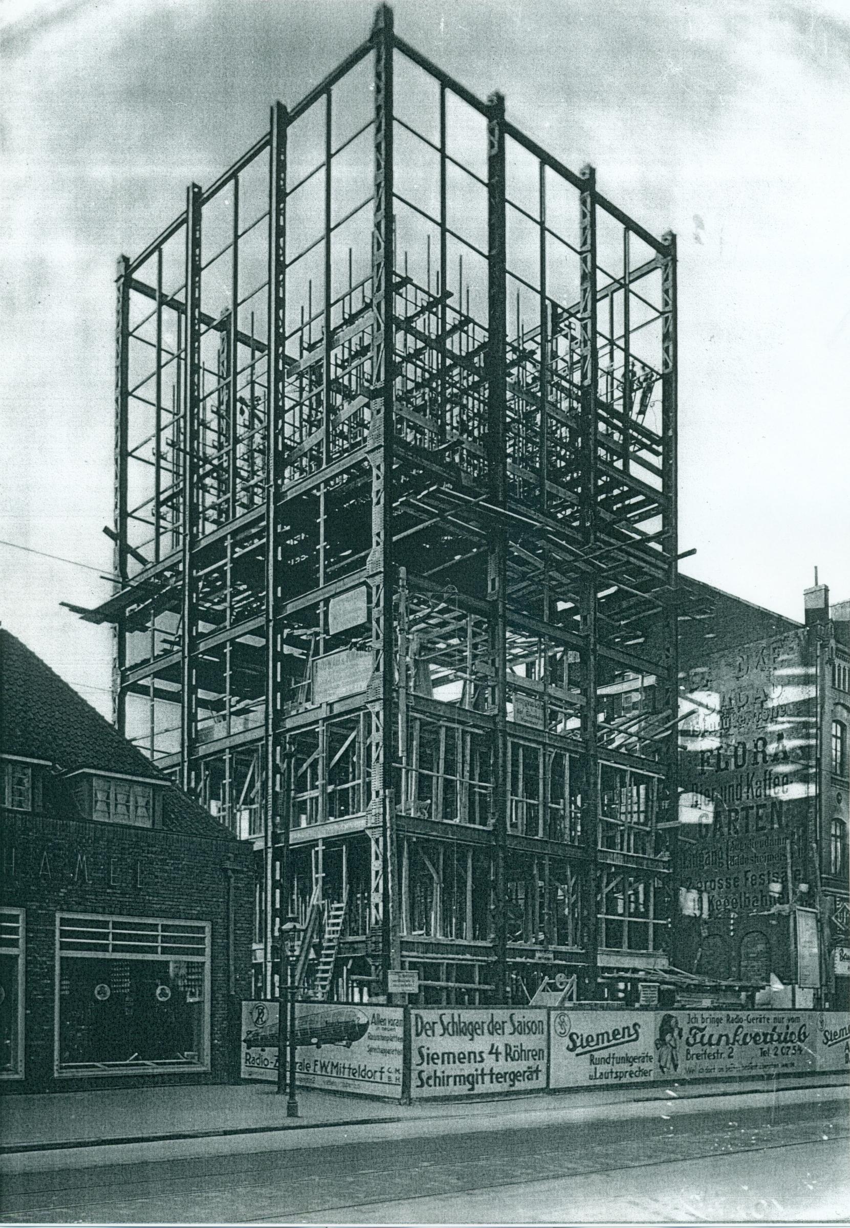 Stahlskelettbau der Stadtbibliothek