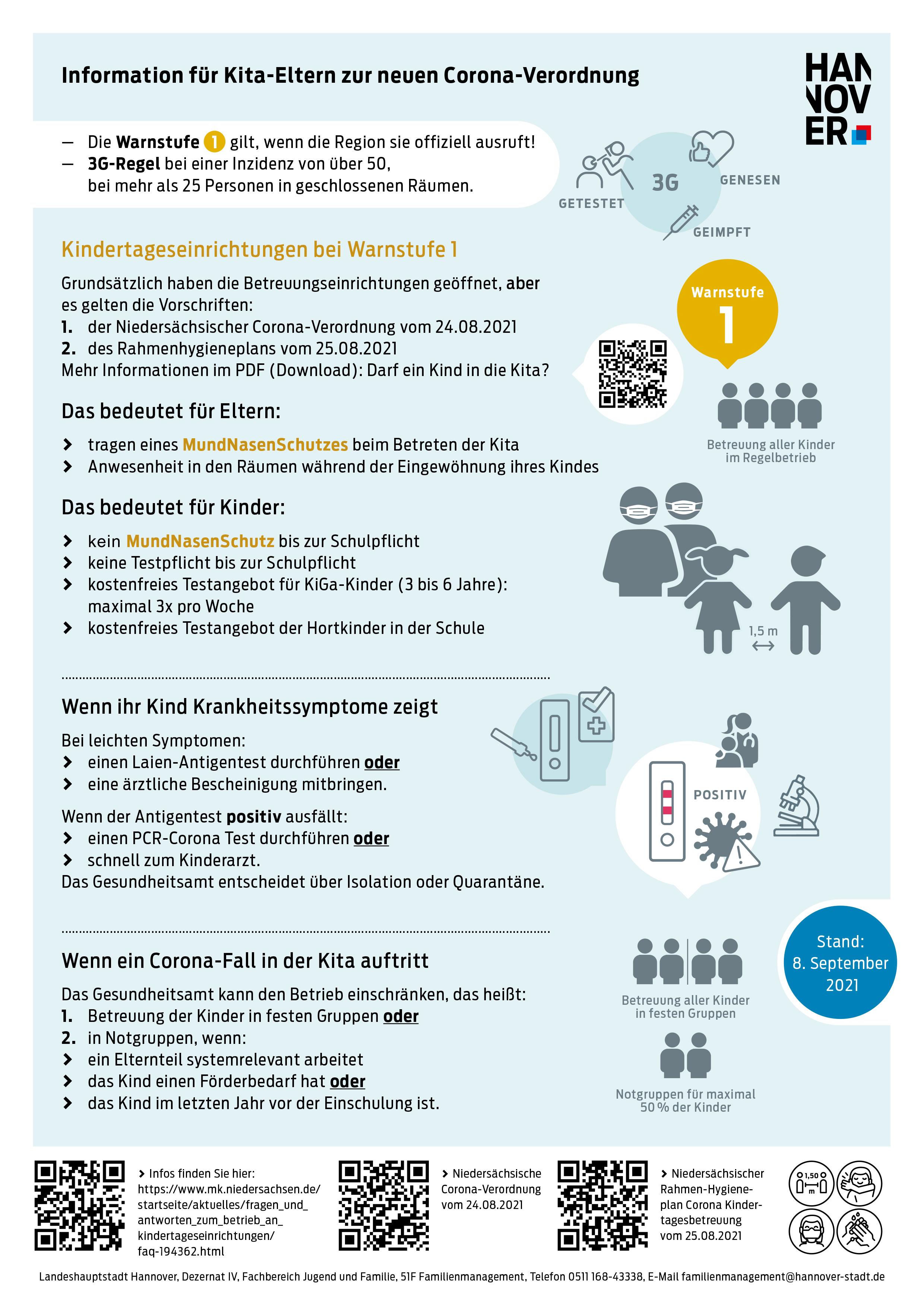 Infografik mit Text zur neuen Corona-Verordnung