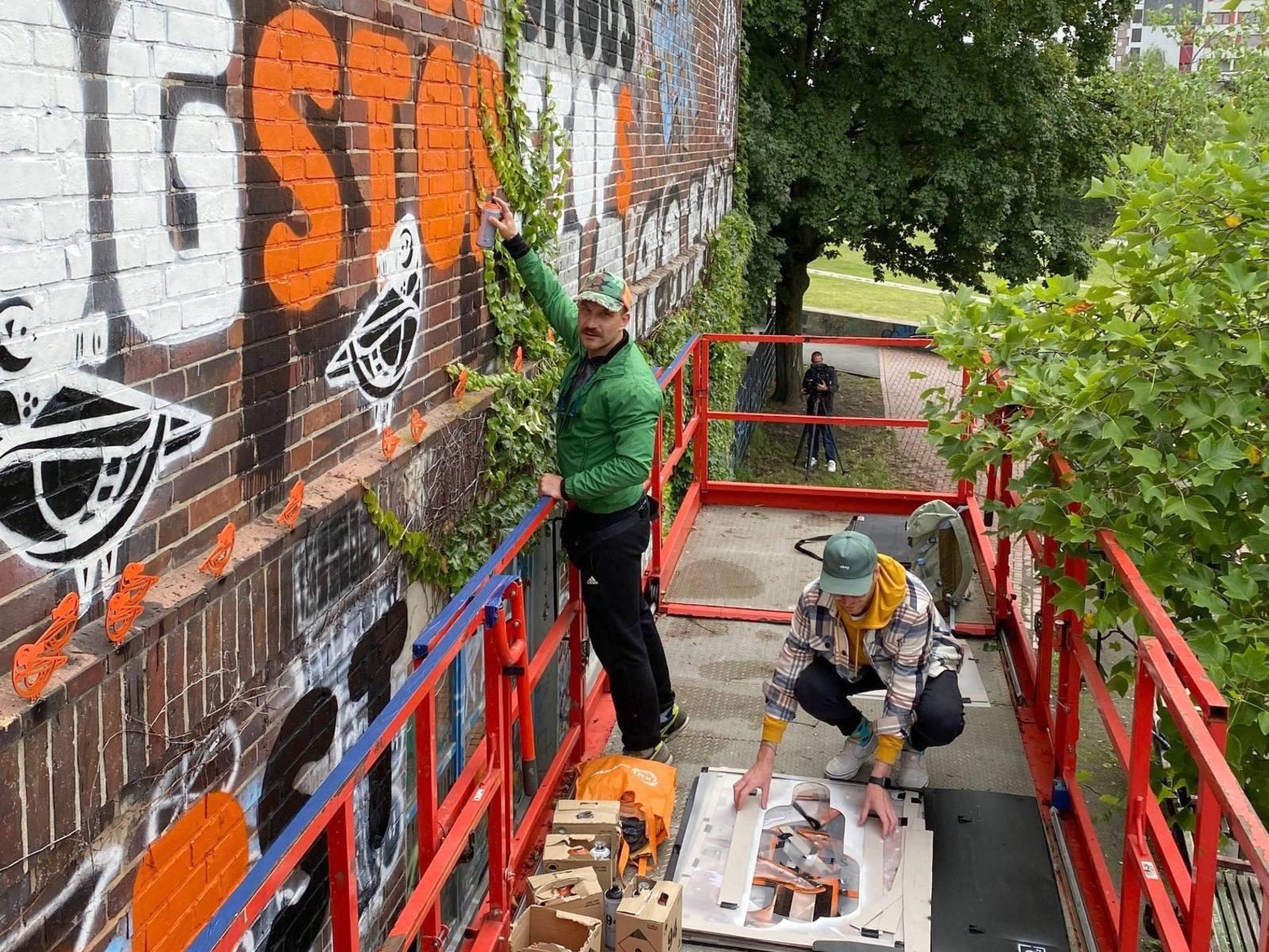 Bart Sucharski, Graffitikünstler aus Poznań.