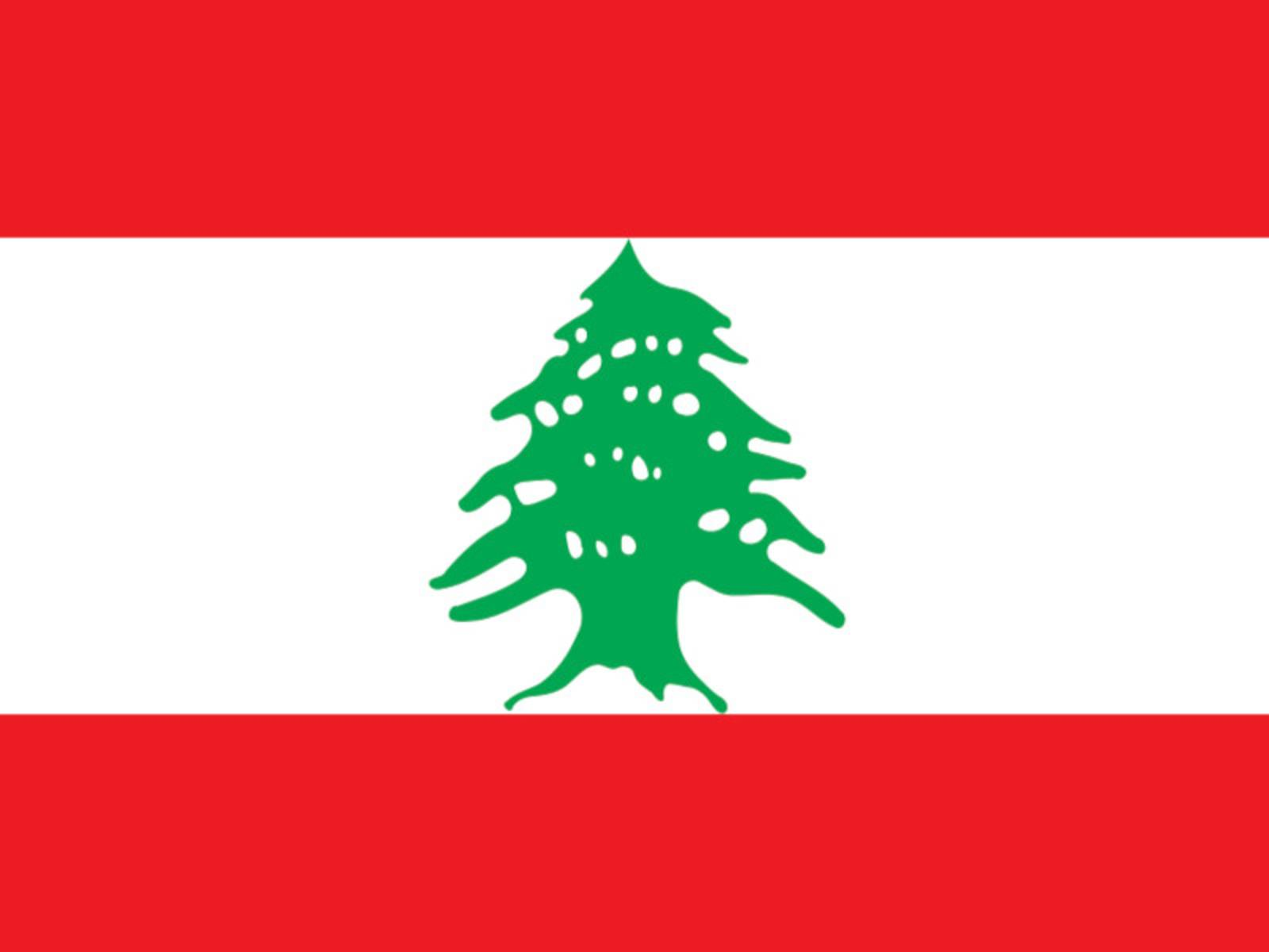 Flagge des Libanon