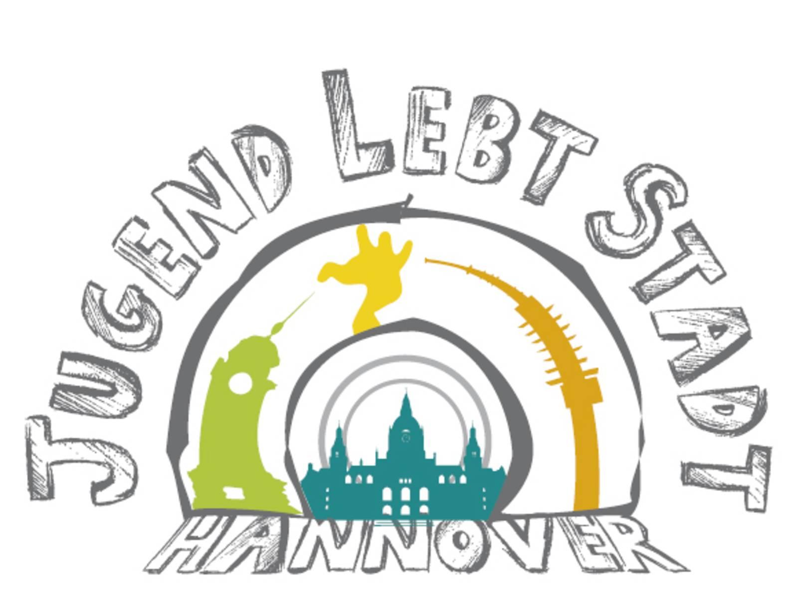 """Logo, auf dem """"Jugend lebt Stadt steht""""."""