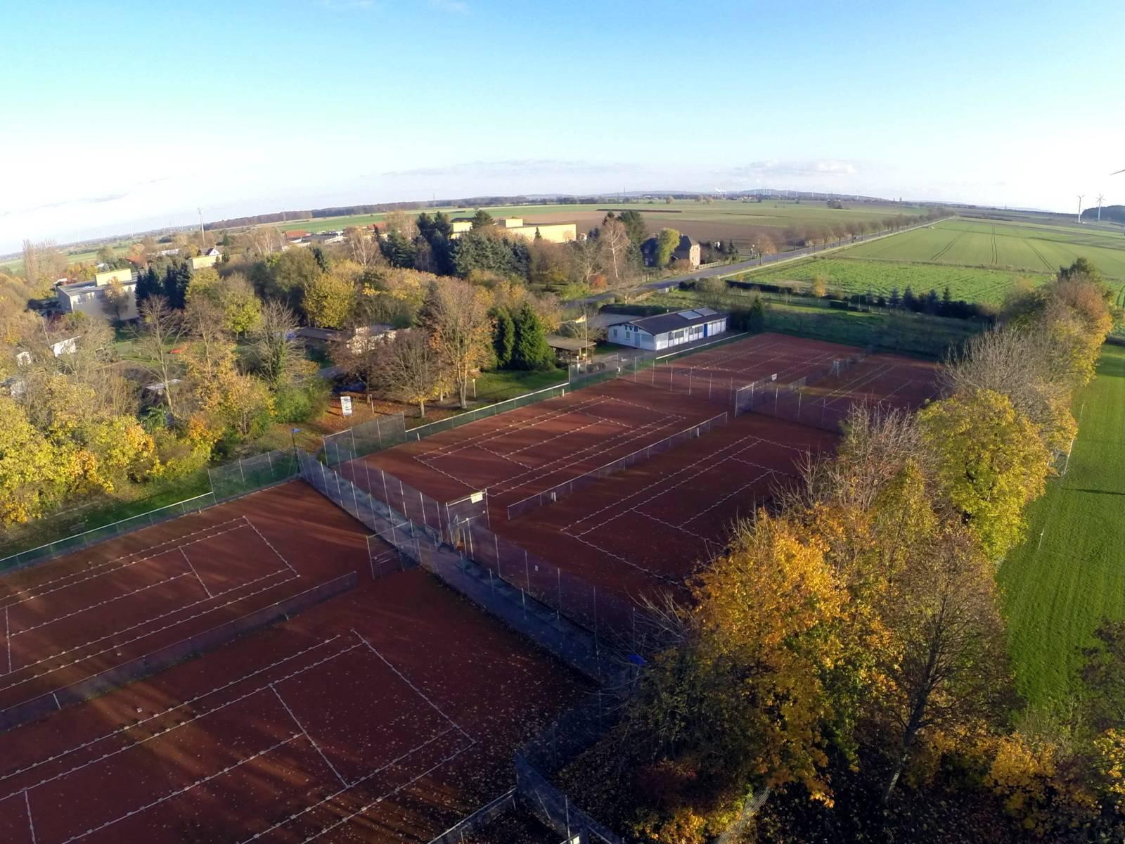Luftbild der Sportanlage