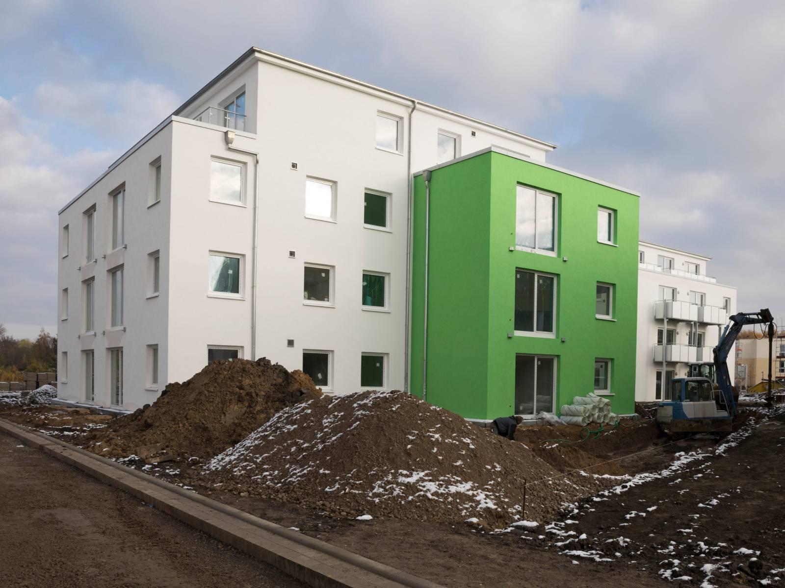 Neubau eines Mehrparteienhauses.