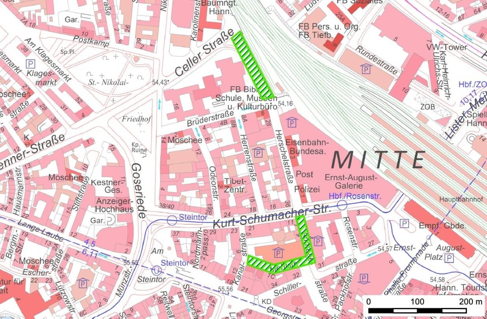Übersichtskarte Stadtgebiet