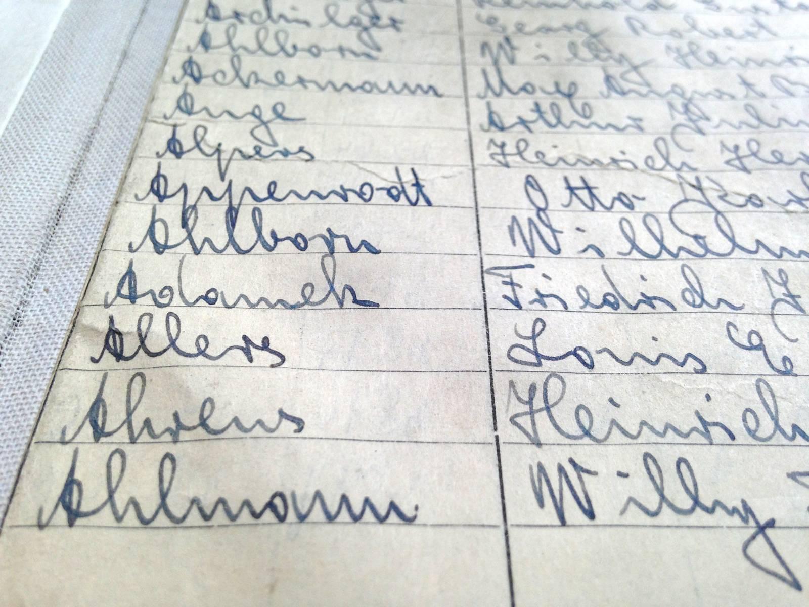 Als Findmittel dienen alphabetische, jahrgangsweise geführte Namensregister.