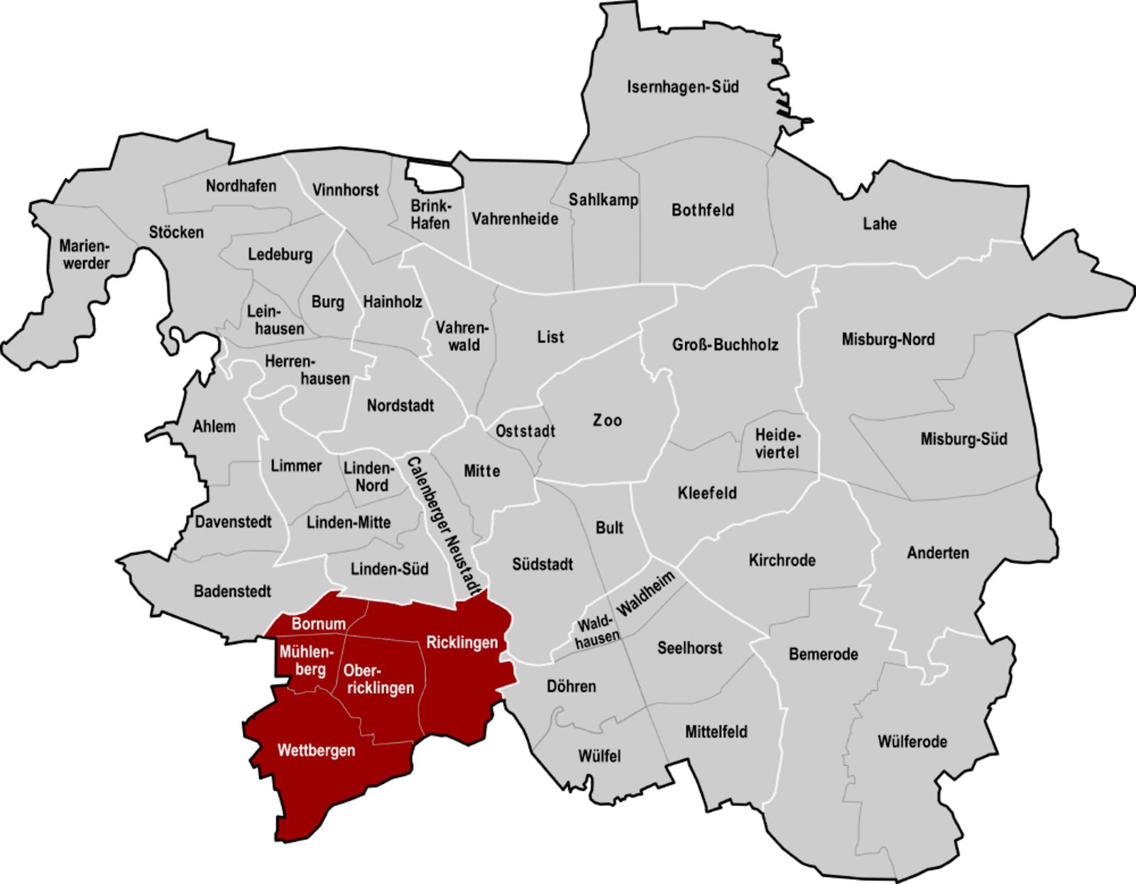 Bezirke Hannover