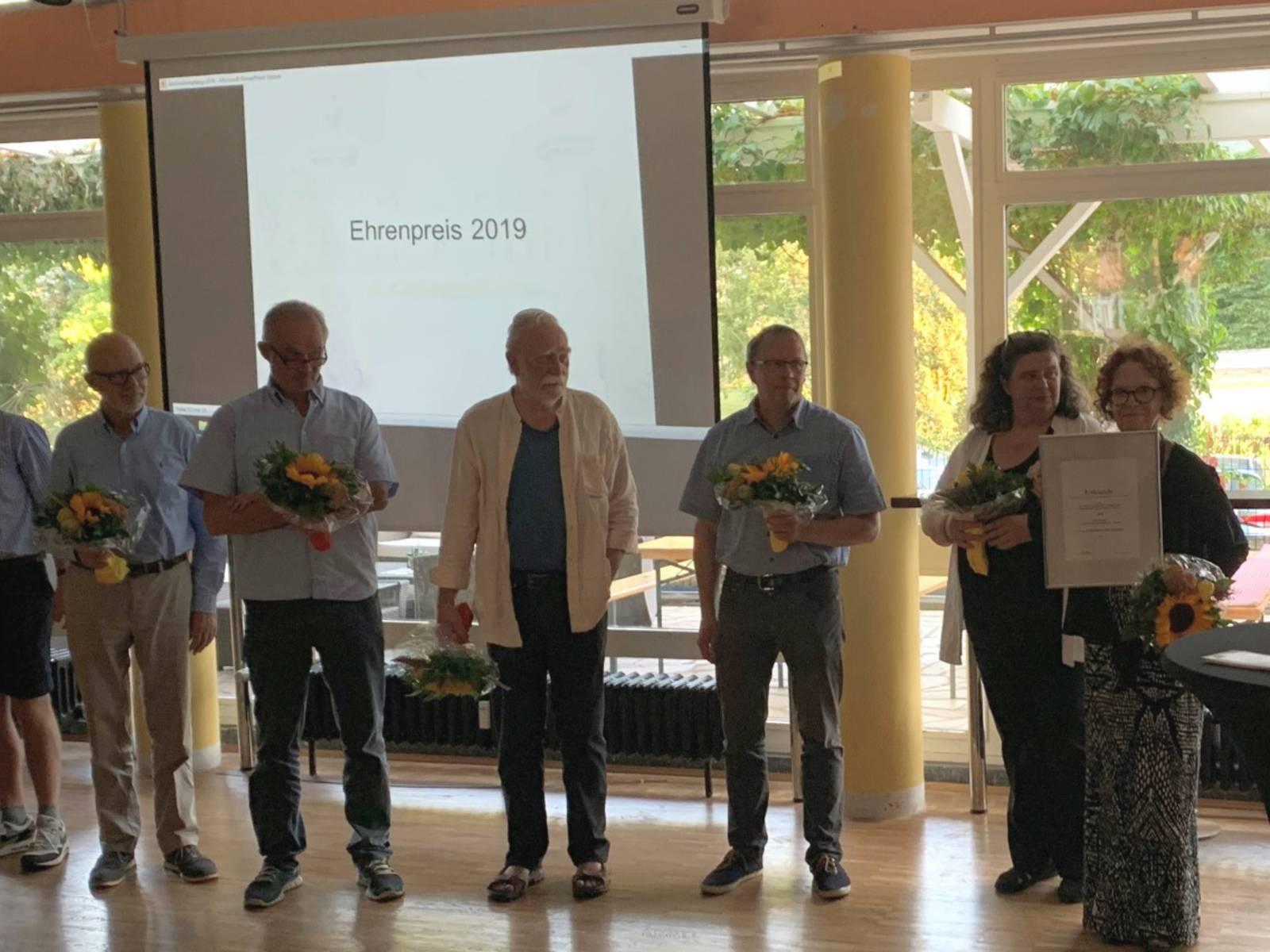 Bürgerpreis für die AG KZ Stöcken, August 2019