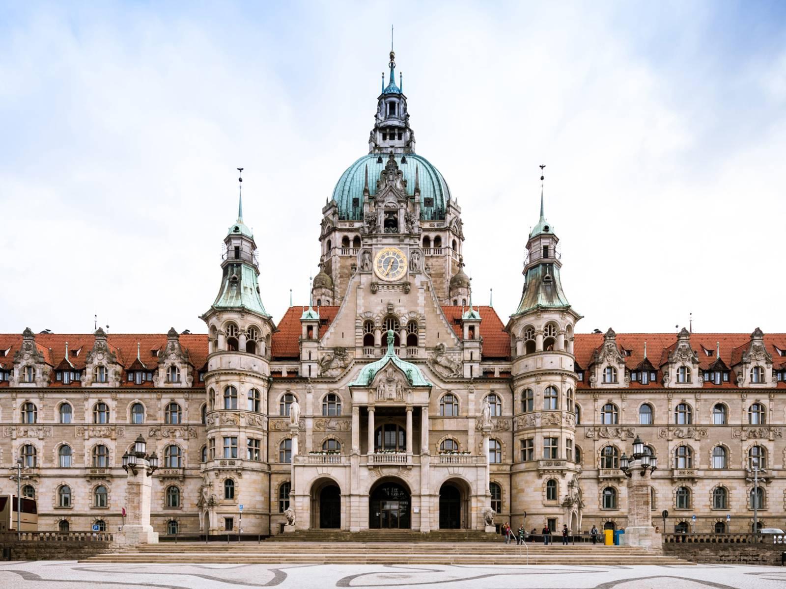 Das Neue Rathaus der niedersächsischen Landeshauptstadt und Hauptsitz der hannoverschen Stadtverwaltung