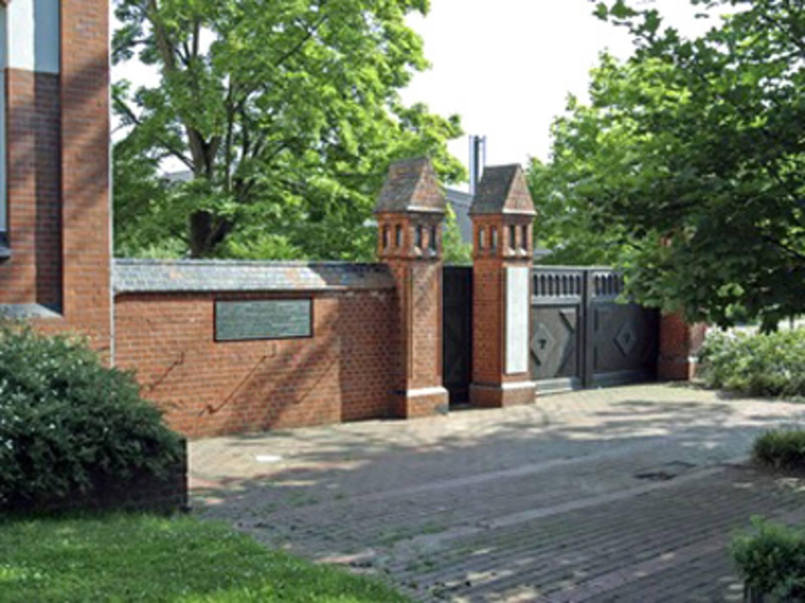 Altes Eingangstor der Israelitischen Gartenbauschule Ahlem