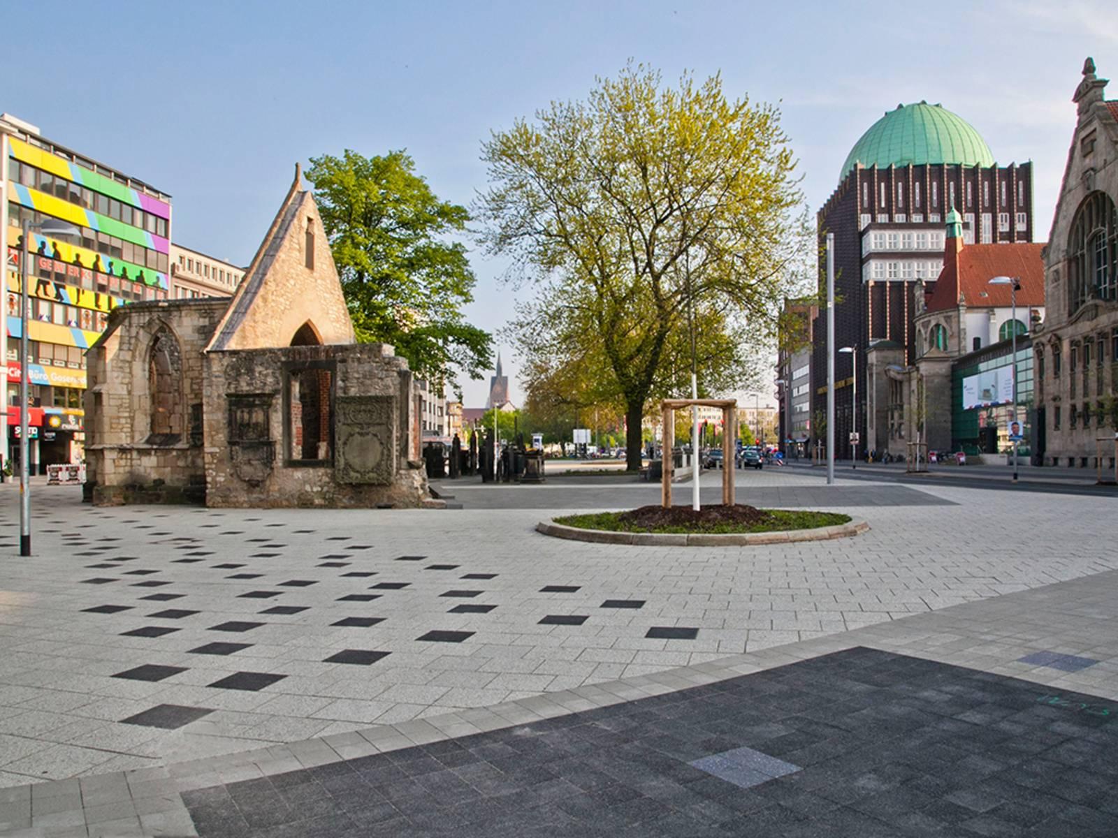 Blick auf den Stadtplatz an der Goseriede