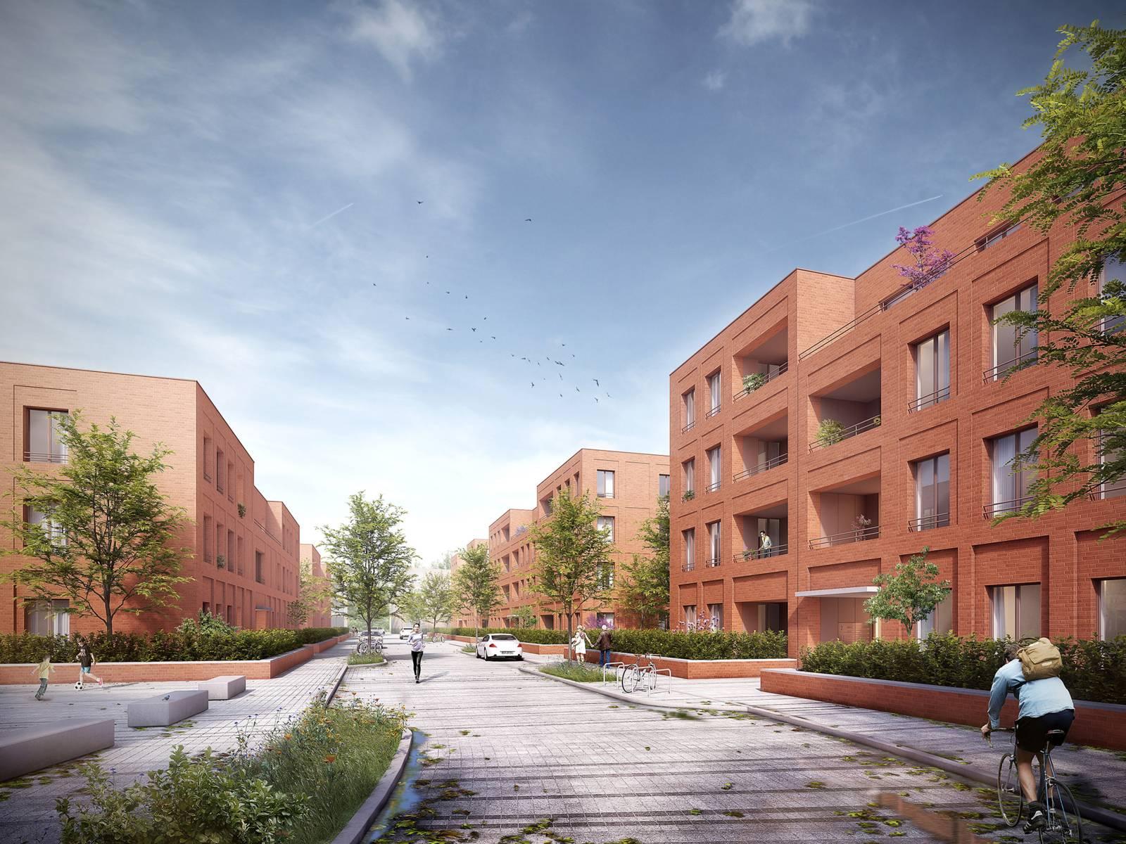 In dem Neubaugebiet sollen rund 400 Wohnungen sowie etwa 25 Ensemblehäuser entstehen
