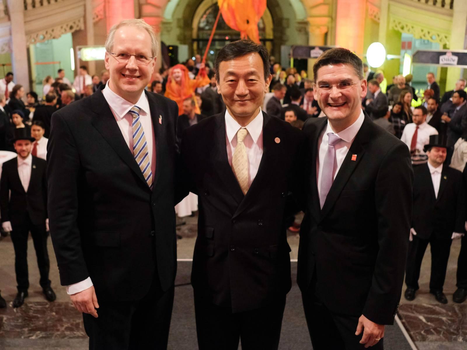 Stefan Schostok, Hitoshi Masuda und Oliver Frese