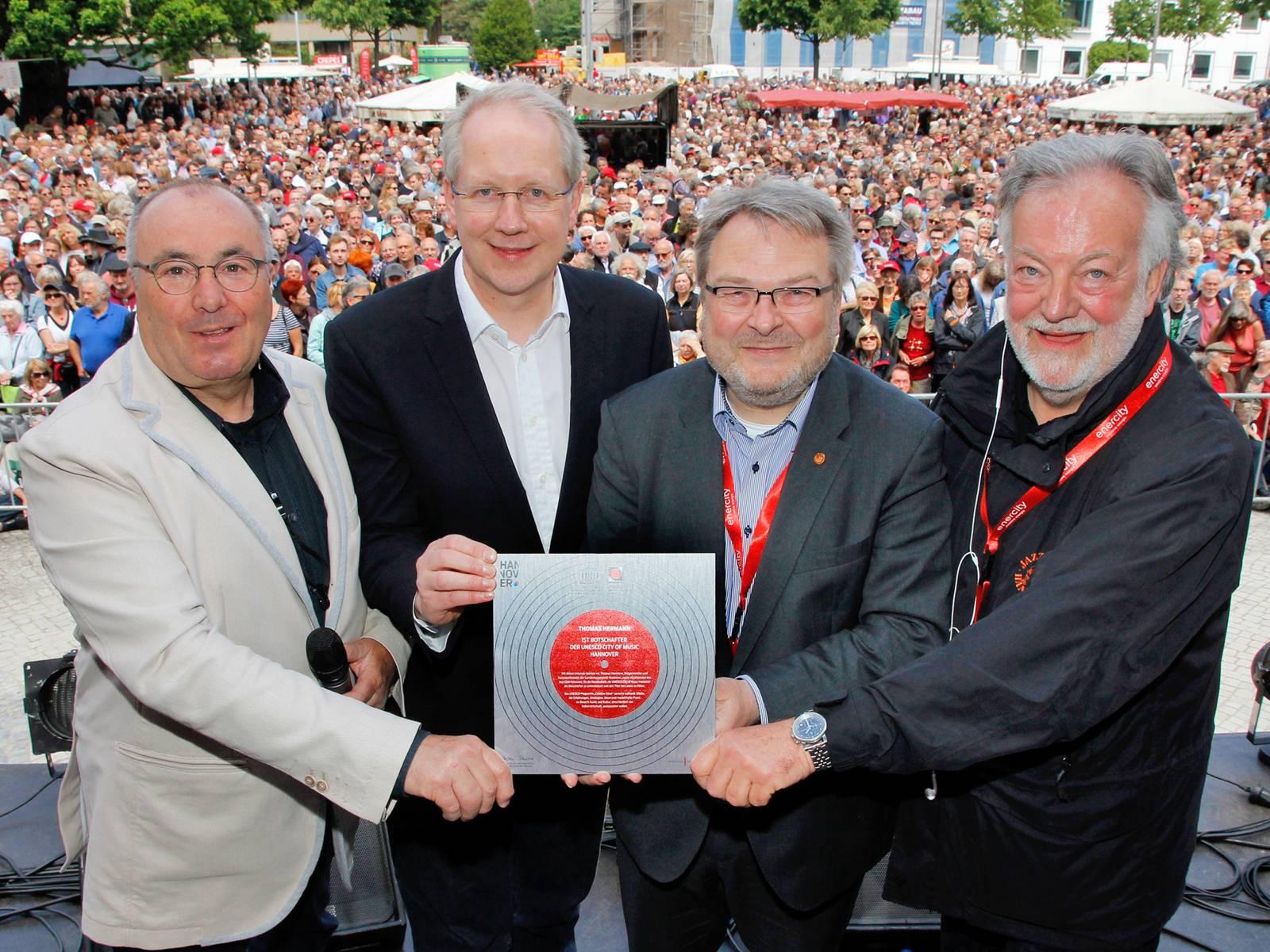 Lothar Krist, Stefan Schostok, Thomas Hermann und Uwe Thedsen