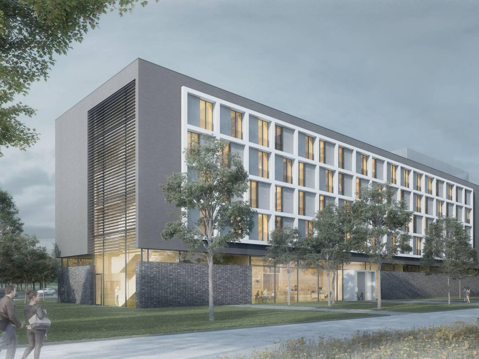 Entwurf eines Hotels.