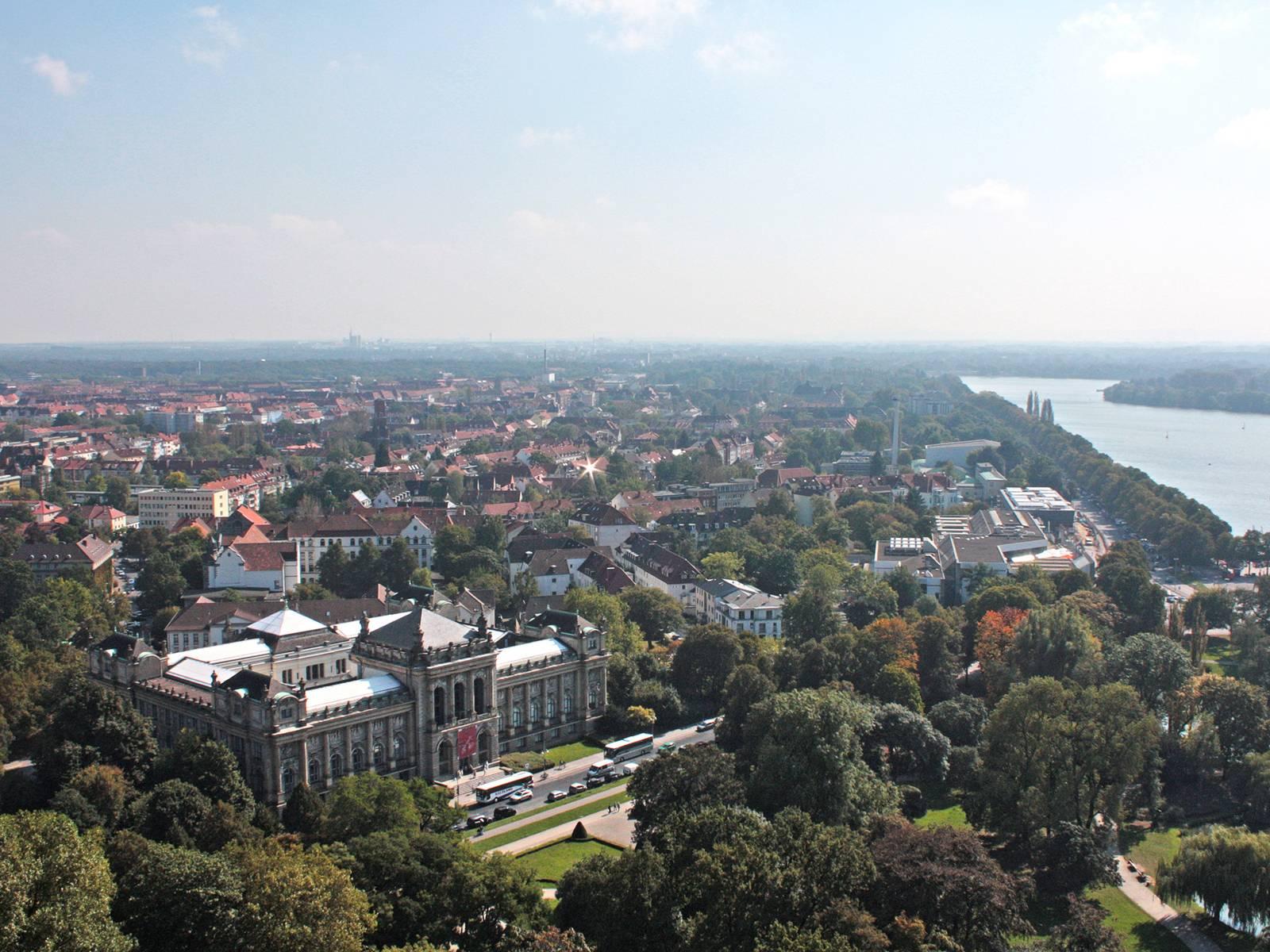 Blick auf die Südstadt
