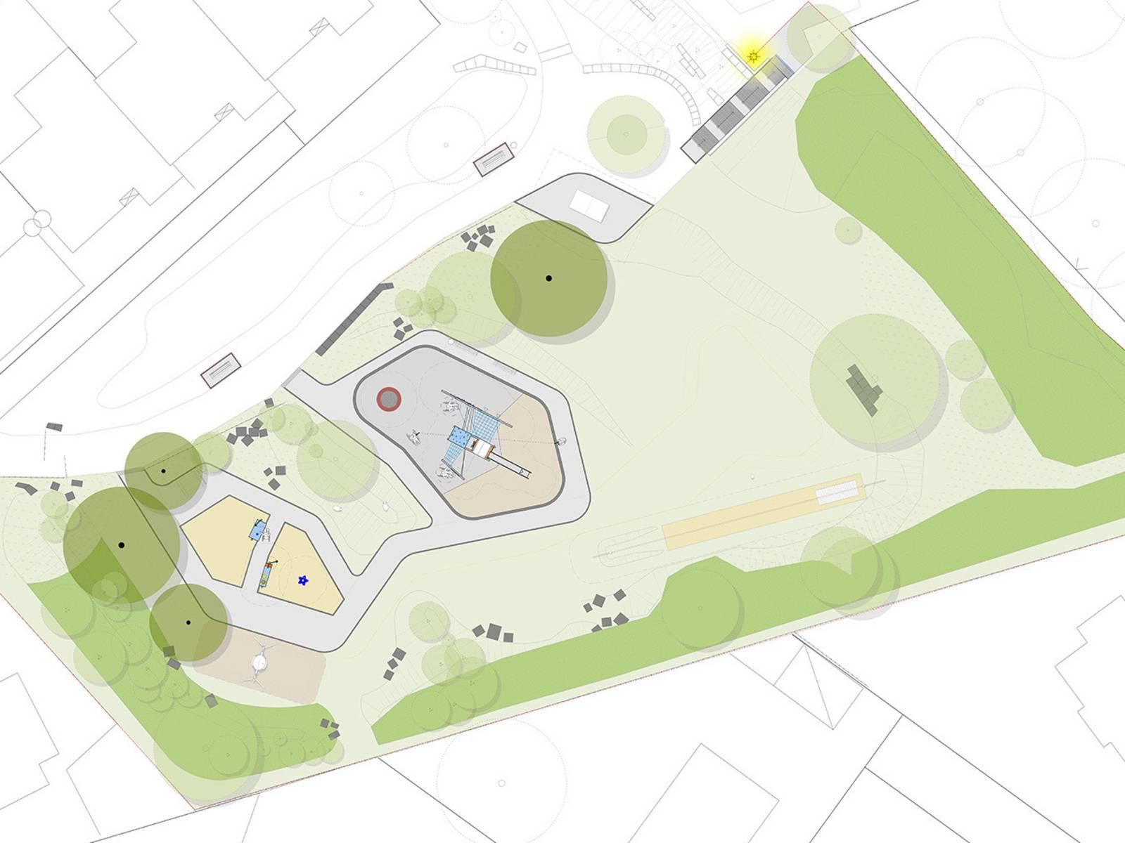 Visualierung eines Spielplatzes.