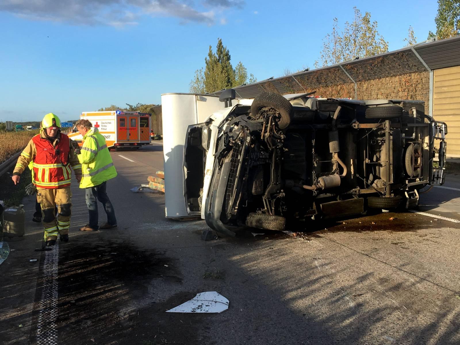 Verkehrsunfall Wohnmobil