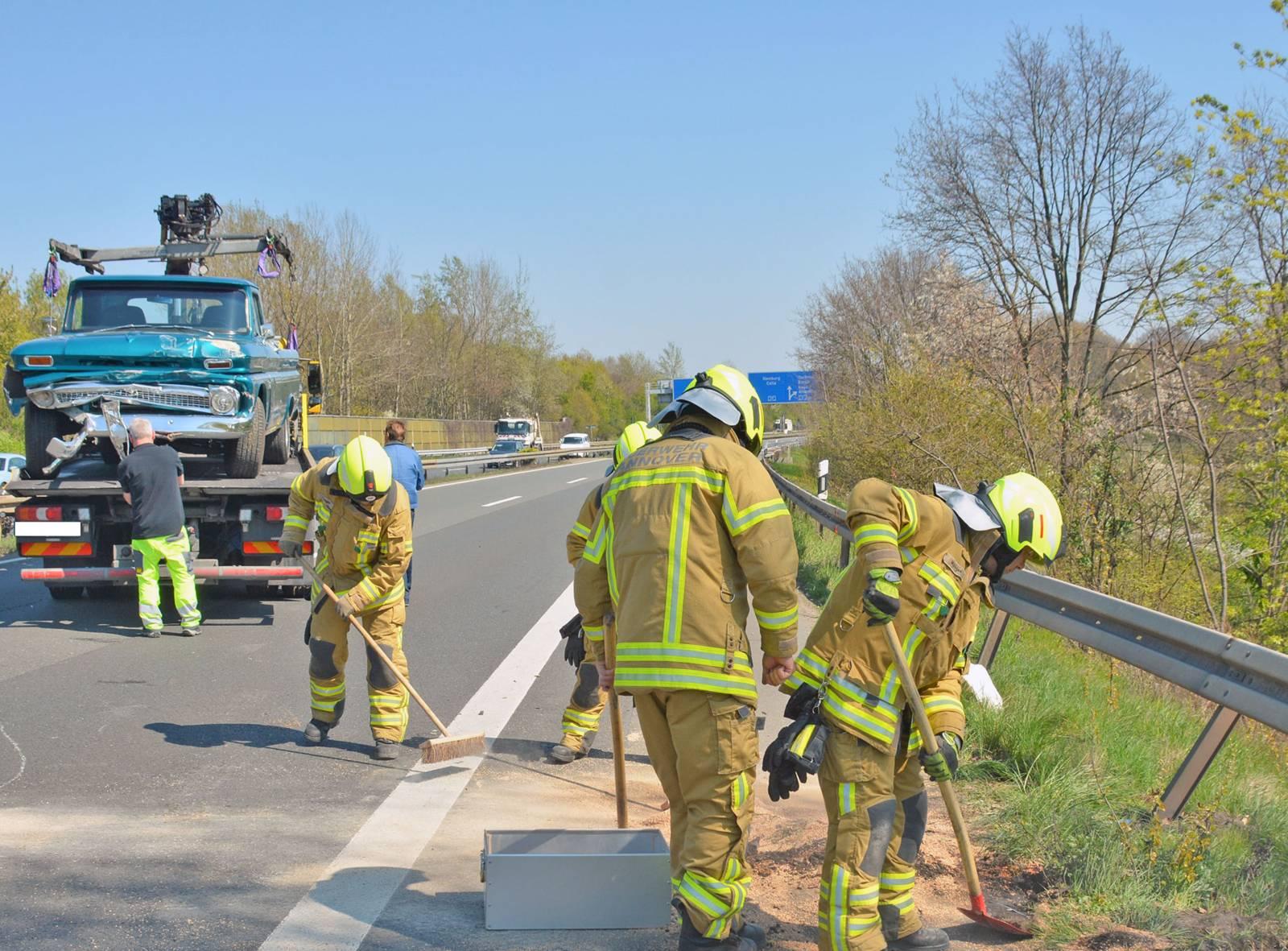 Zwei Verletzte bei Verkehrsunfall auf der BAB 37