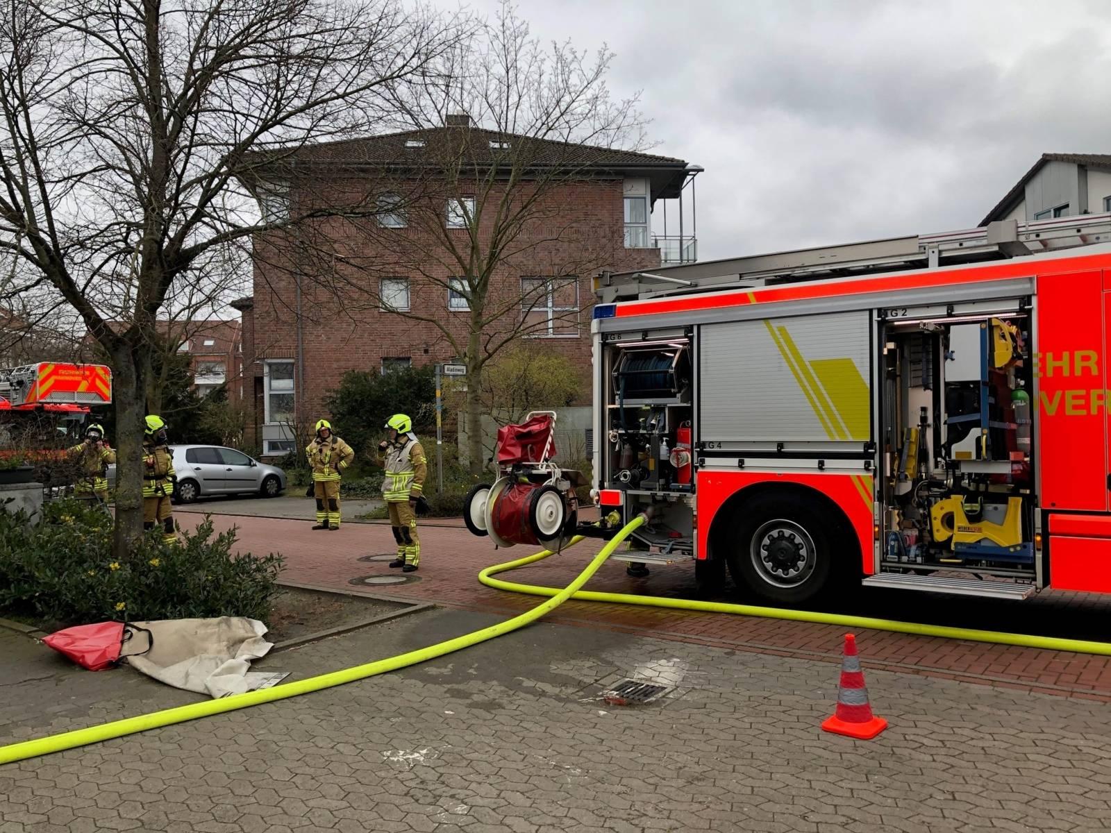 Kellerbrand in Hannover Sahlkamp