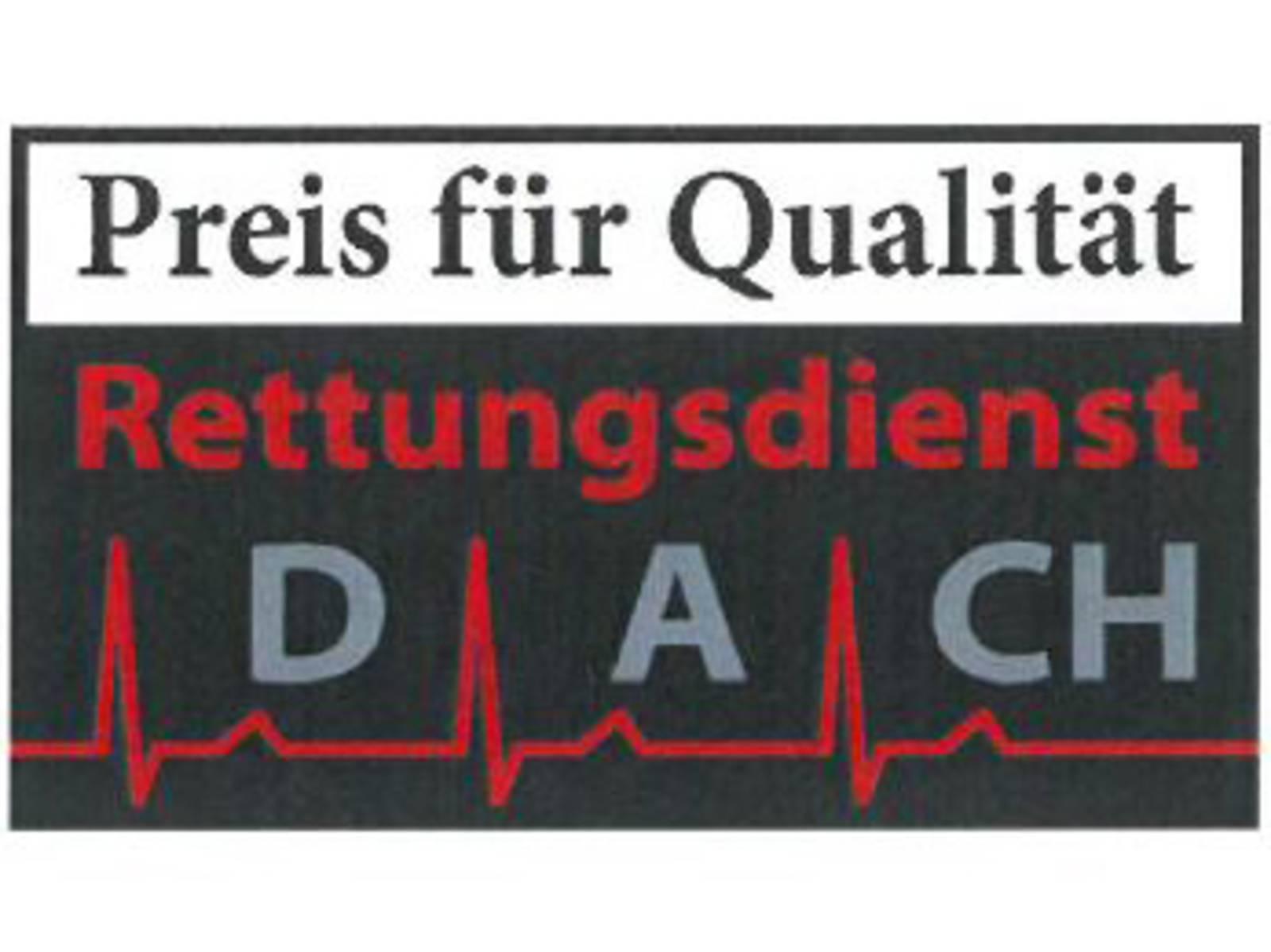 Logo Preis für Qualität im Rettungsdienst D-A-CH