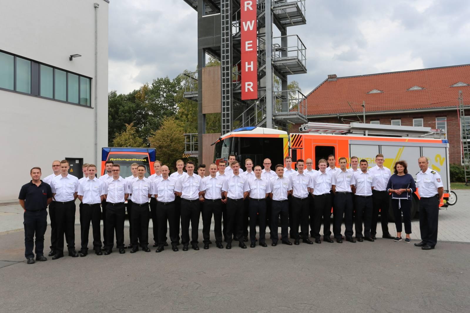 Nachwuchskräfte 2019 starten Ihre Karriere bei der Feuerwehr Hannover