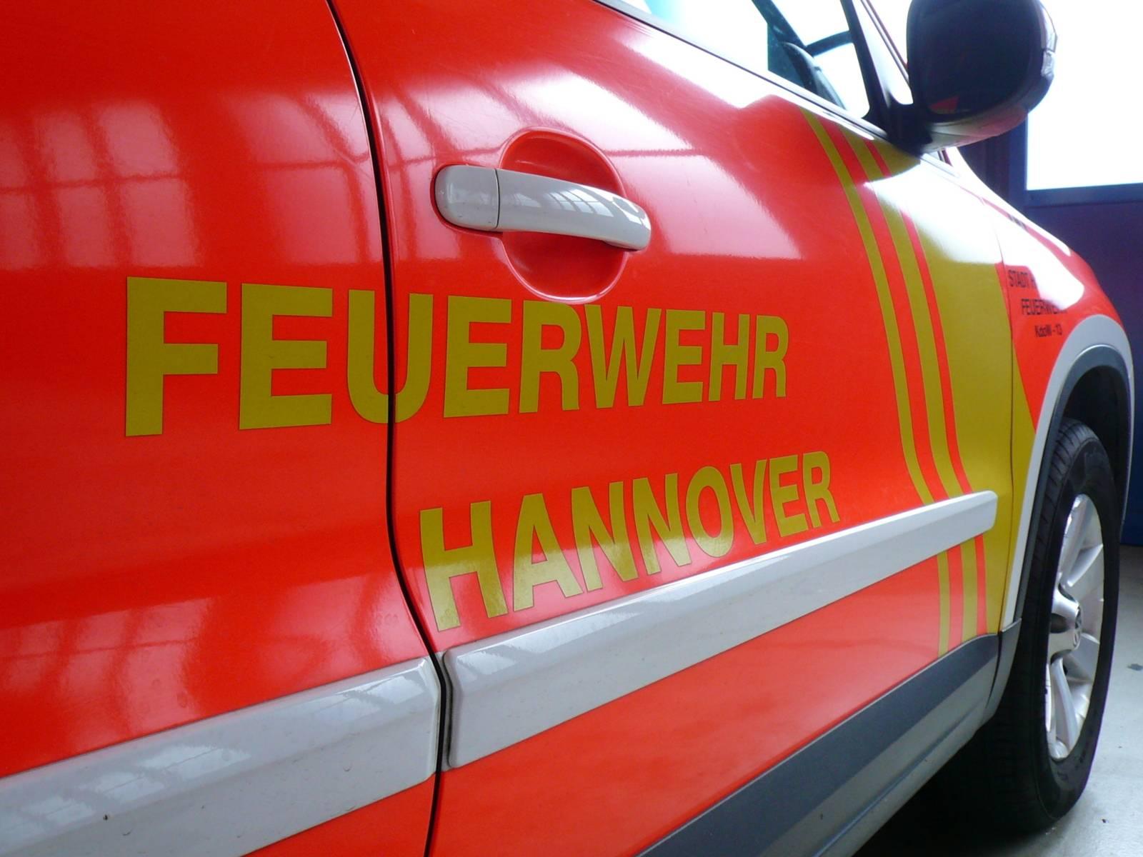 Die Seitentür eines Fahrzeugs der Feuerwehr Hannover