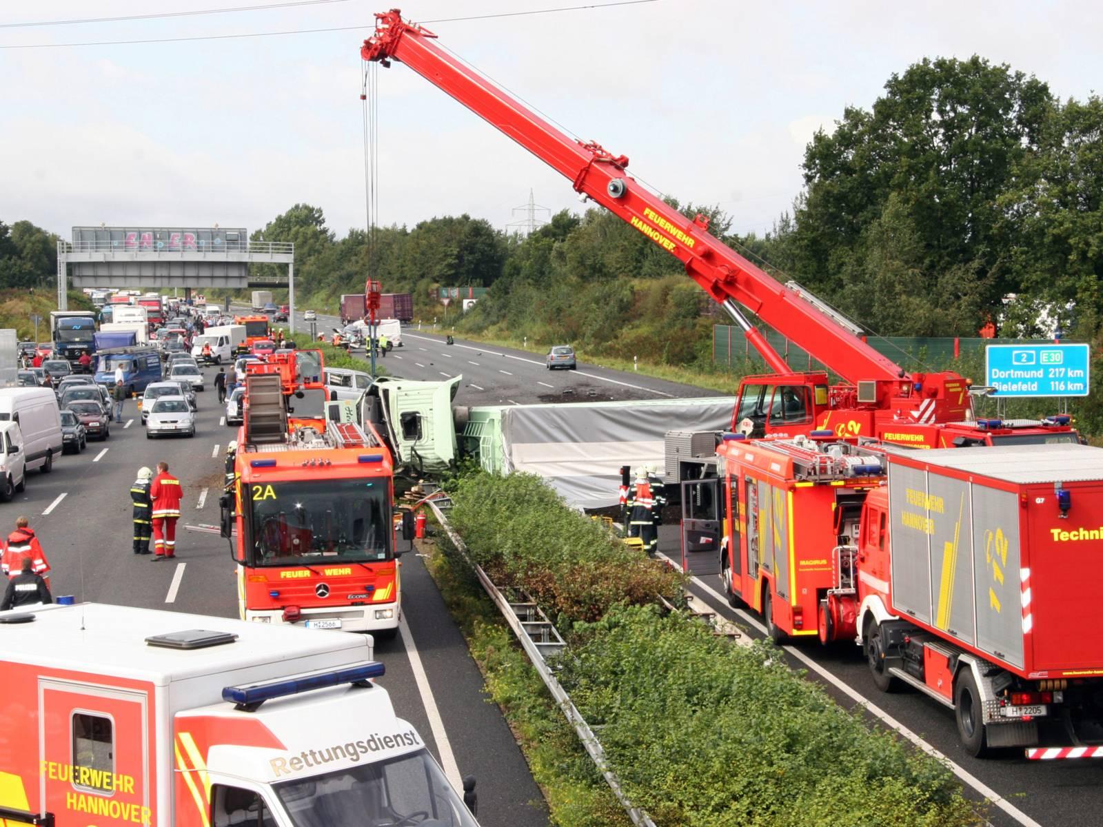 LKW-Verkehrsunfall BAB