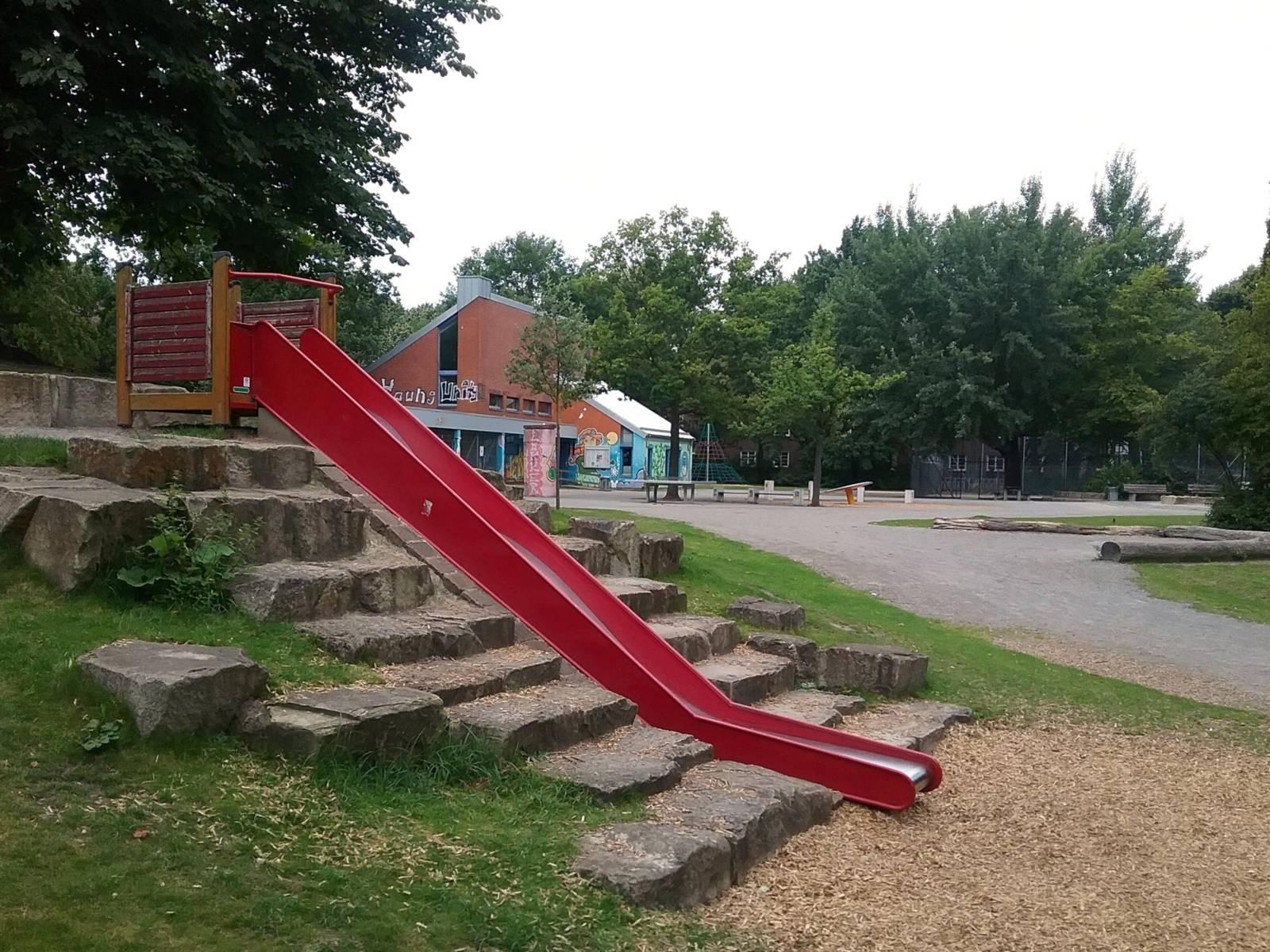 Spielplatz vor einem Spielpark.