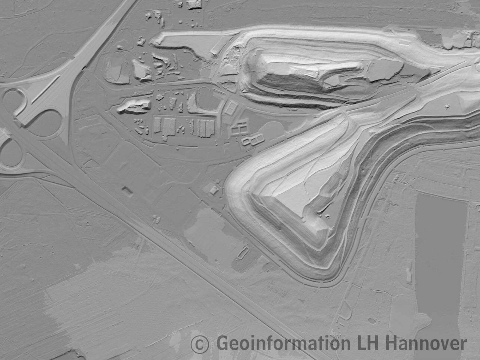 Muster Digitales Geländemodell