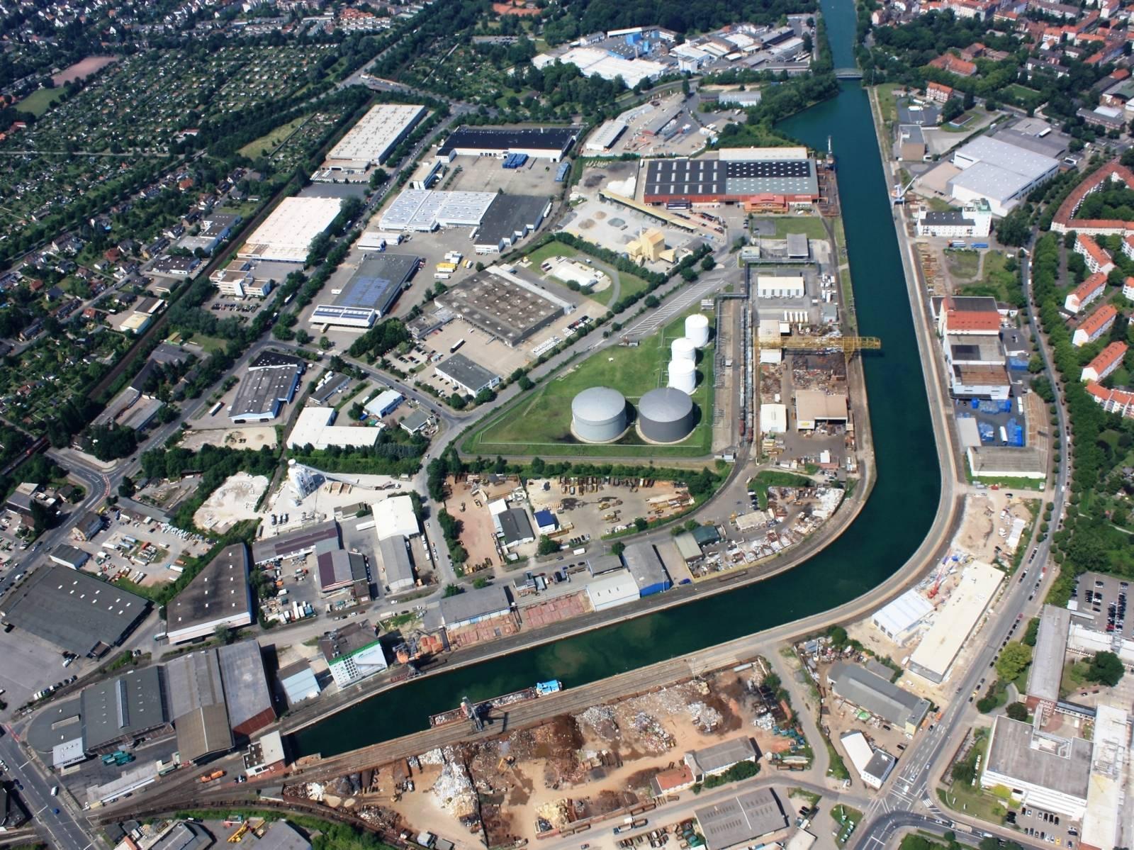 Luftbild Lindener Hafen