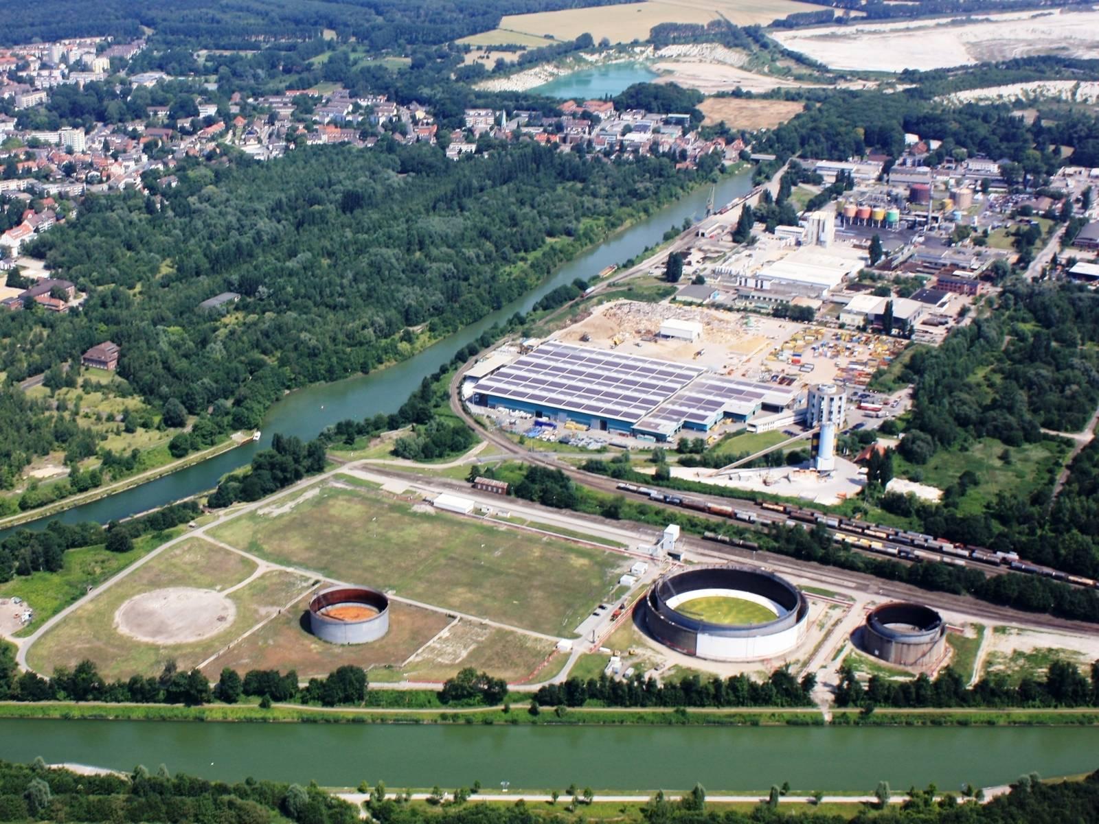Luftbild Misburger Hafen