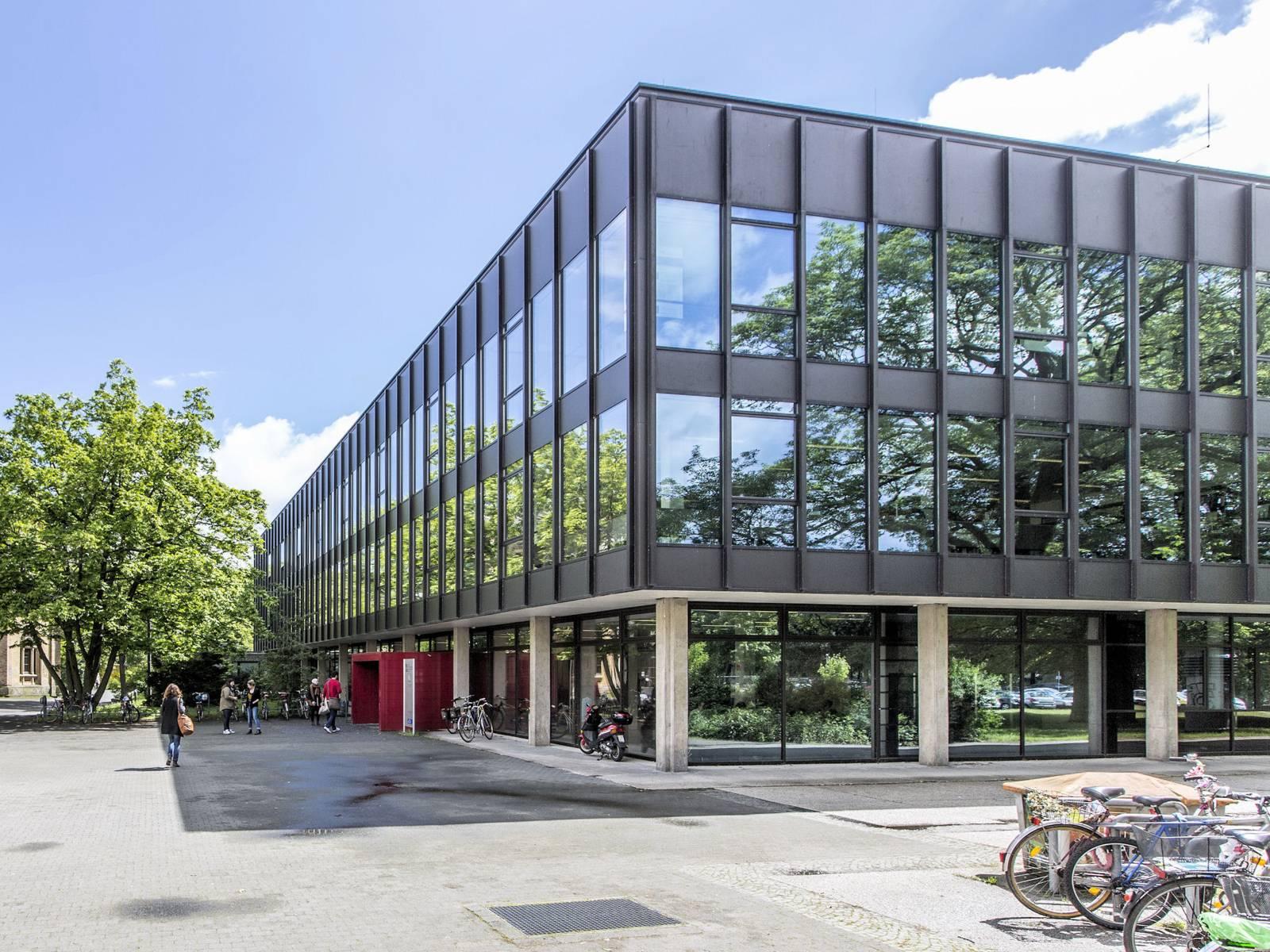 Außenansicht eines modernen Gebäudes