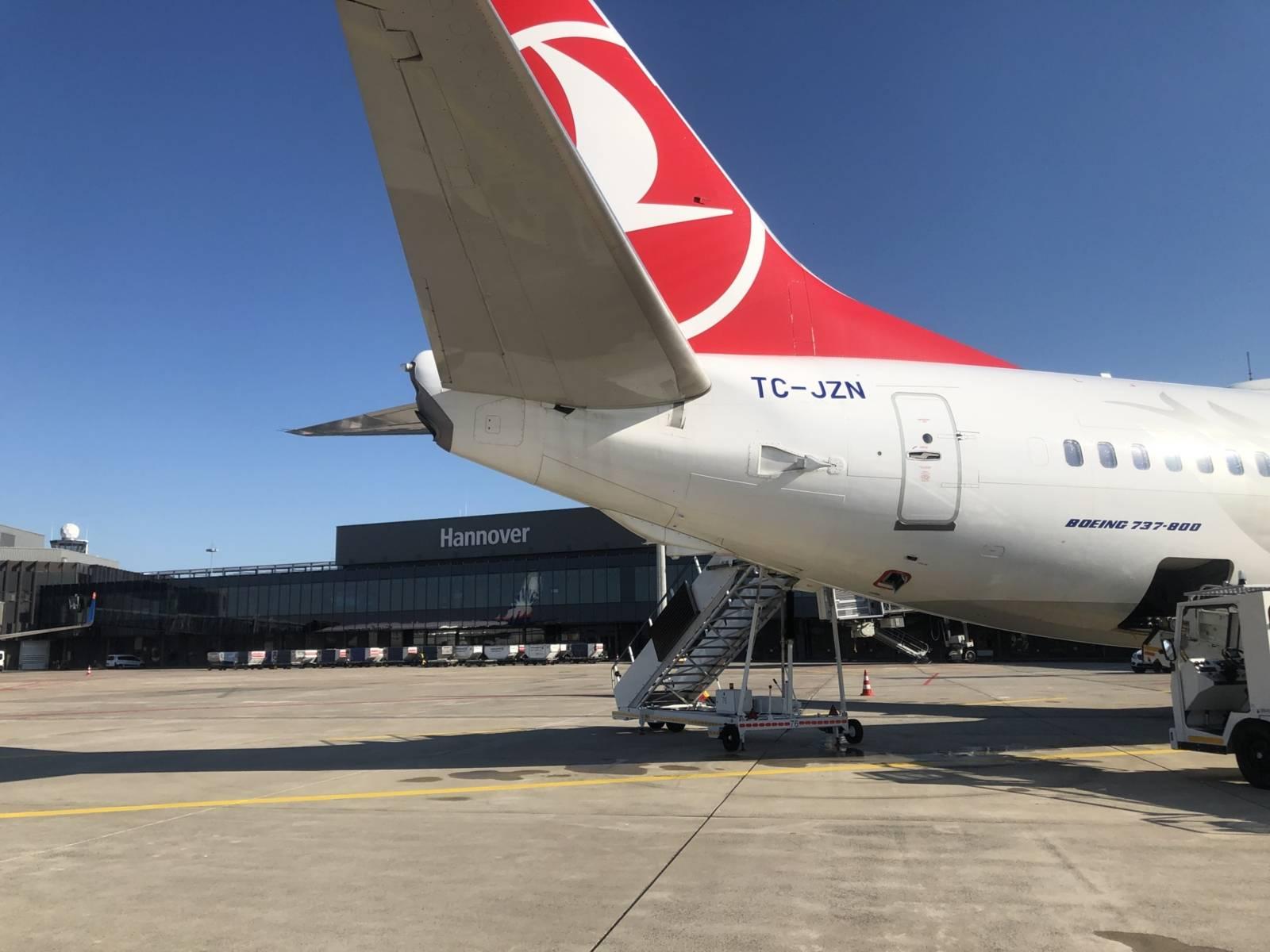 Flugzeug am Flughafen Hannover