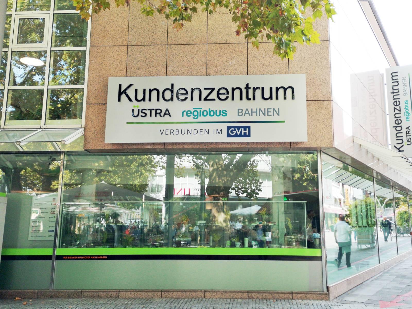 Das GVH Kundenzentrum in der Innenstadt von Hannover