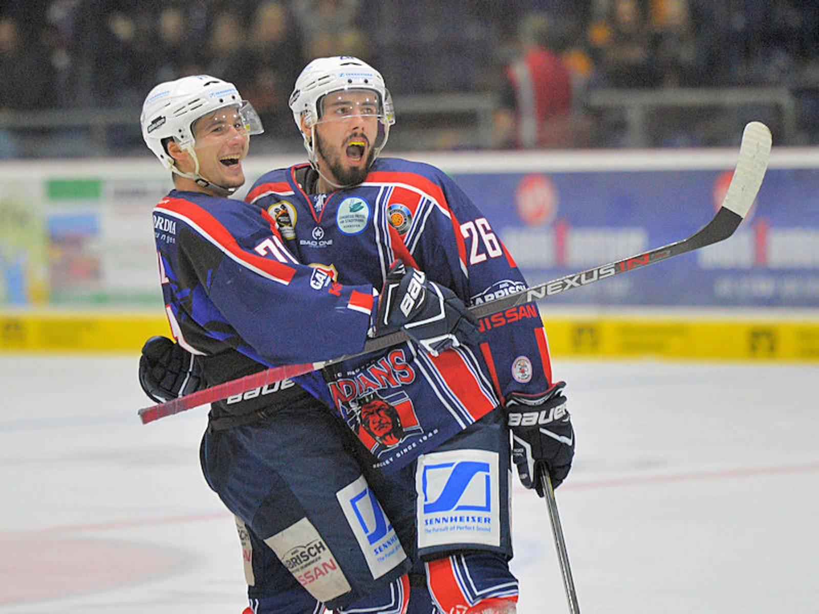Szene aus einem Eishockeyspiel