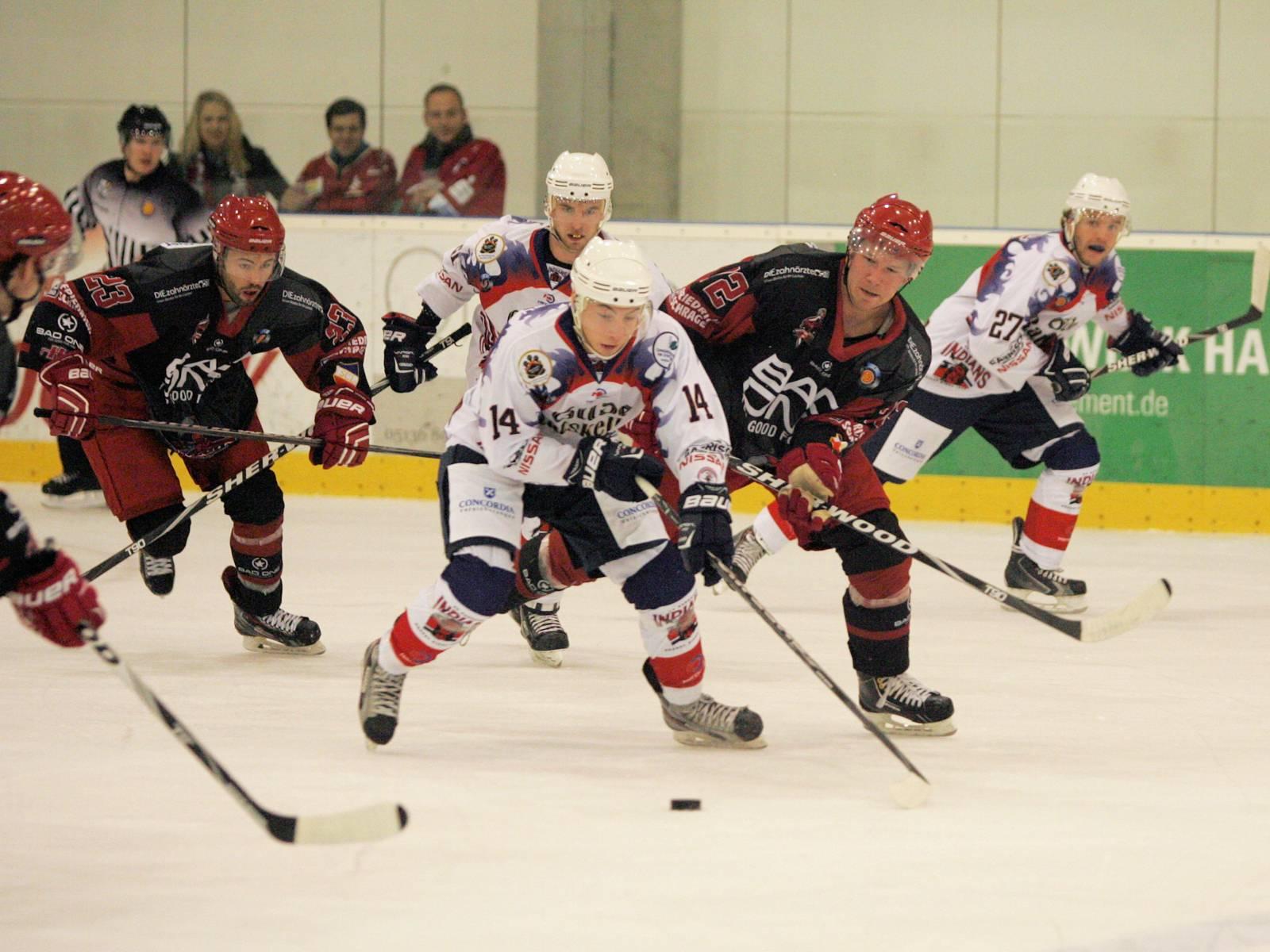 Spielszene beim Eishockey