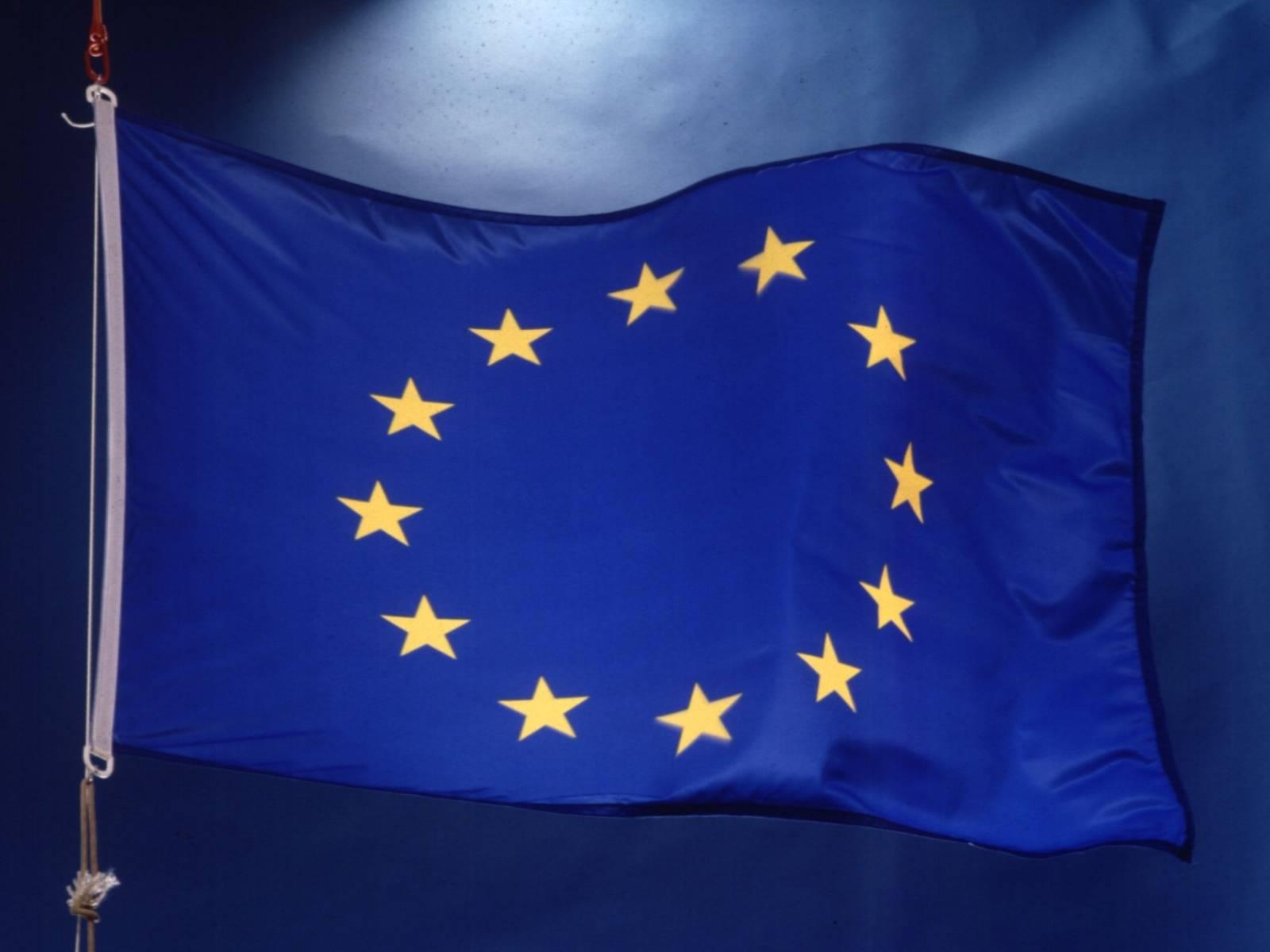 Wehende EU Fahne