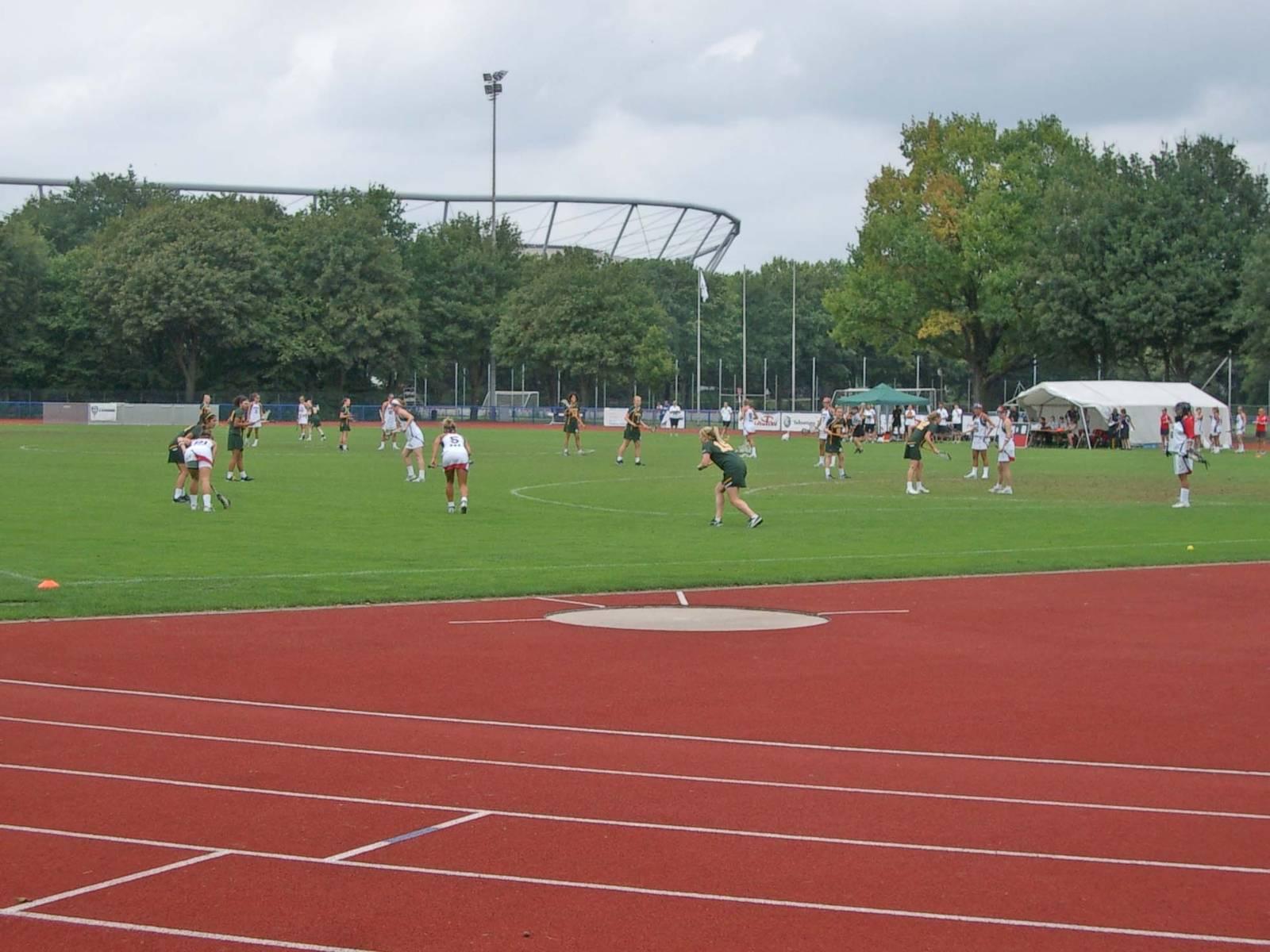 Ein Sportplatz.