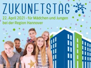 Kollage Zukunftstag 2020 bei der Region Hannover