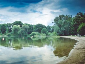Die Uferzone im Strandbad Hemmingen