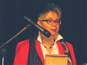 Bezirksbürgermeisterin Schlienkamp hielt die Neujahrsrede.
