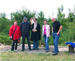 Gruppenfoto Wassertretanlage an der Fösse.