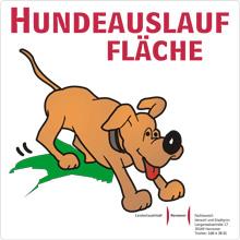 Schild Hundeauslauffläche