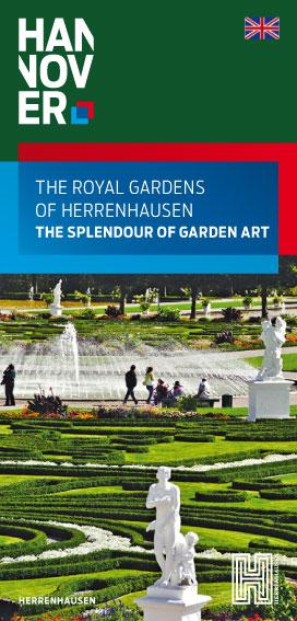 """Titelseite der Broschüre """"The Royal Gardens of Herrenhausen"""""""