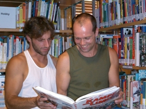 Besucher der Bibliothek