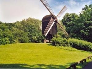 Bockwindmühle auf Anhöhe im Hermann-Löns-Park