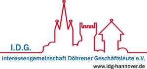 Großes farbiges Logo der IDG