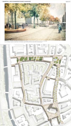 Siegerentwurf: Bebauung Marstall und Schmiedestraße