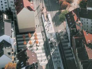 """Der """"Streifenplatz"""" am Engelbosteler Damm"""