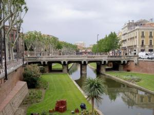 "Brücke über den Fluß ""Basse"" in Perpignan"